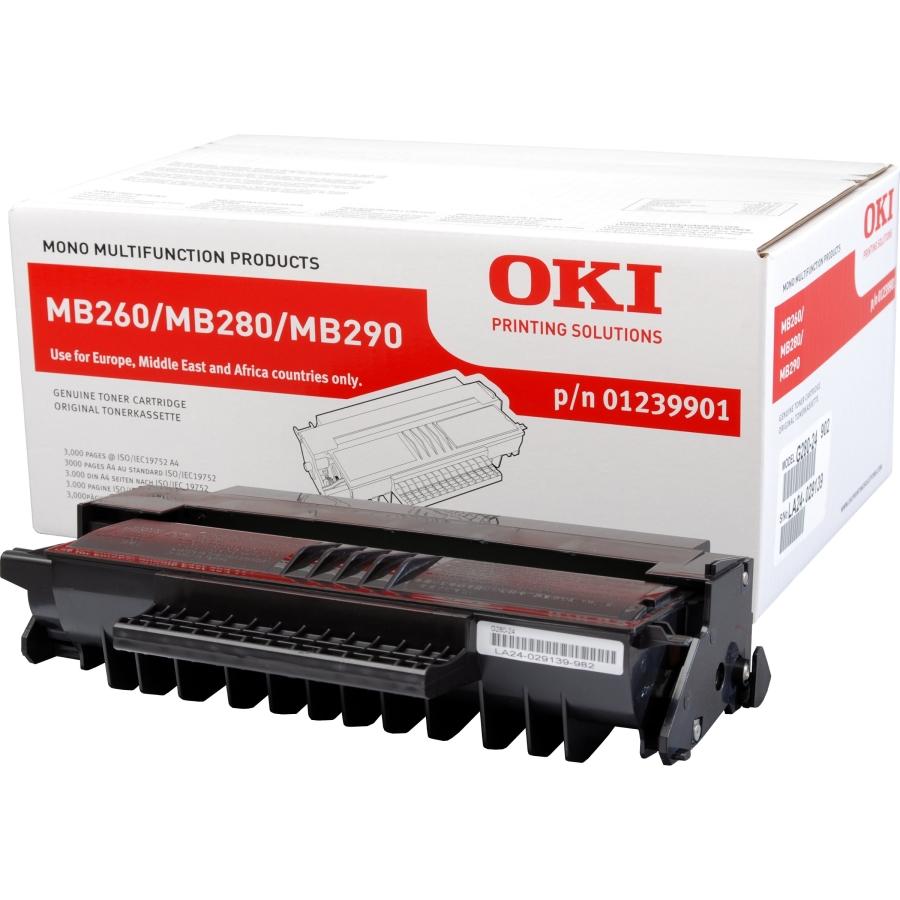 OKI toner 01239901 original svart 3.000 sidor