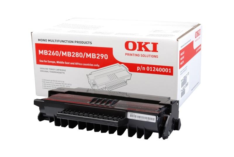 OKI toner 01240001 original svart 5.500 sidor
