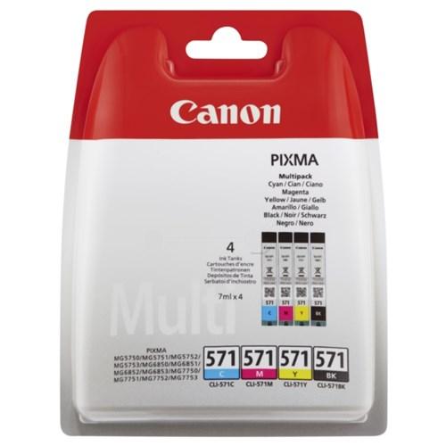 CANON Multi Pack bläckpatroner C/M/Y/BK 7 ml x 4