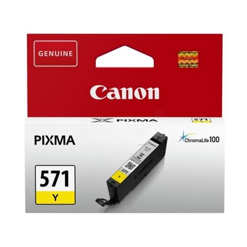 CANON bläckpatron CLI-571 original gul 7 ml