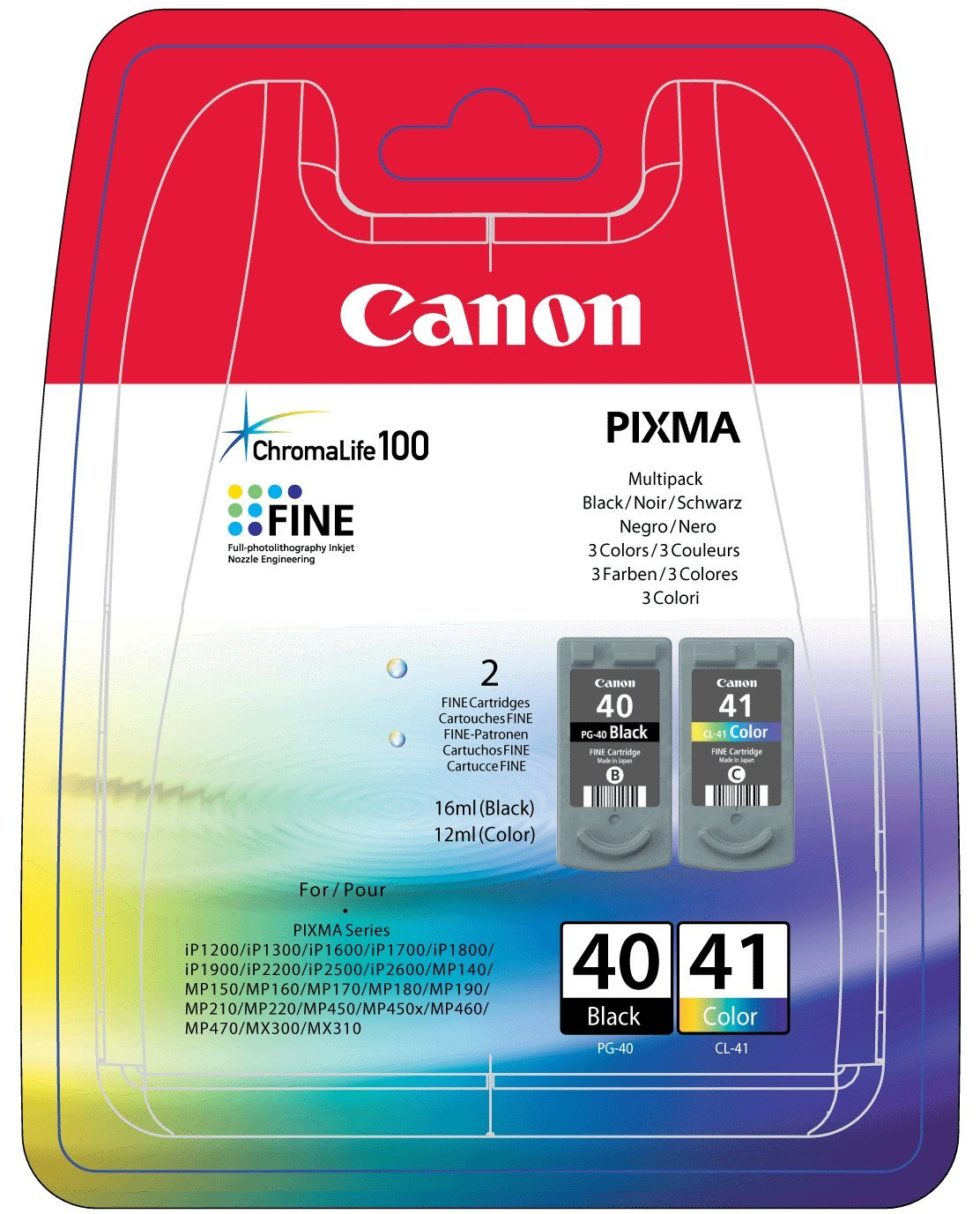 CANON PG-40/CL-41 Multi Pack Incl. 2 Cartridges (PG-40/CL-41)