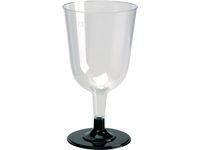 Plastglas vin lös fot 24cl 12/FP