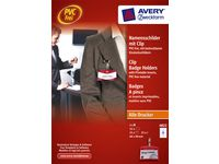 Namnskylt AVERY set 60x90mm 25/FP