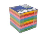 Blockkub inkl. hållare. färgat papper