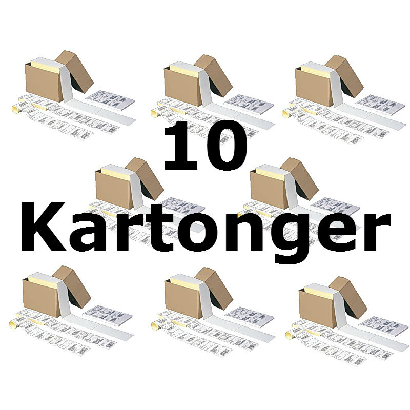 Transportetikett 105x220mm 10x2000 etiketter TR007T (10 KRT)
