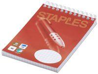 Spiralblock STAPLES A6 60g 100bl rut á (10st)