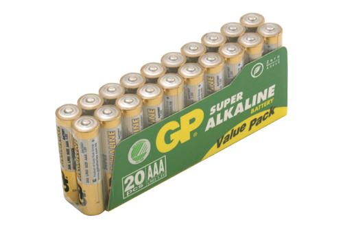 Batterier alkaliska AA
