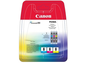 CANON CLI-8 ChromaLife Multipack Incl. C/M/Y bläckpatrons *Blister*
