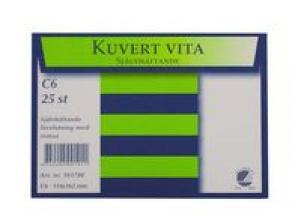 Kuvert konsument fp C6 Vit P/S 25/FP
