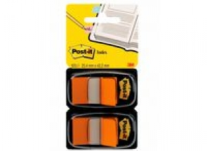 Index POST-IT dubbelpack 2x50flik orange