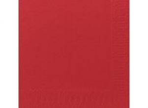 Servett 3-lags 33x33cm röd 125/FP