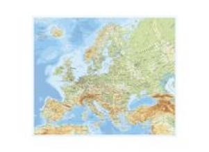 Karta Europa rullad i tub 98x82cm