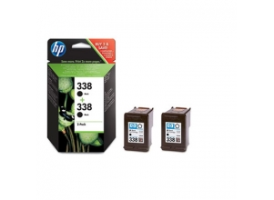 HP svart Vivera bläckpatron No. 338 (11 ml) *2-pack*