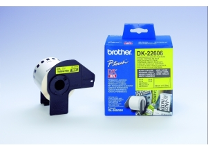 BROTHER QL 500/550 Continous Paper Tape svart på gul 62 mm