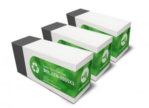 3-pack svart toner 1500 sidor MILJTN-2005 <br>Vid köp av 3-pack = FRI FRAKT!