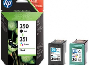 HP 350/351 Inkjet Cartridges Combo Pack