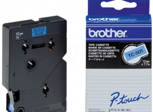 BROTHER P-Touch Tape svart på blå 12mm