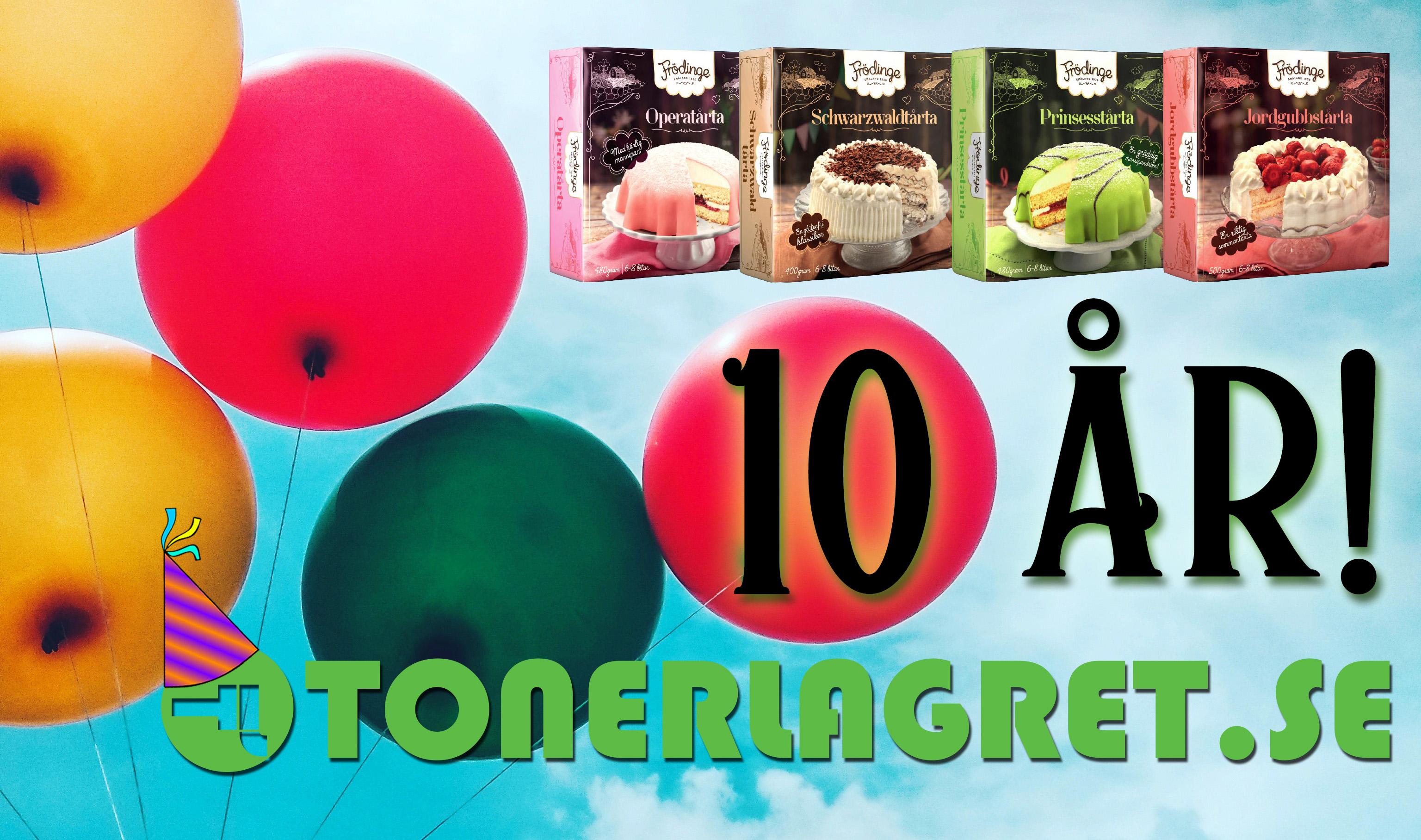 Ballonger i himlen, Tonerlagret 10år! Frödinge tårtor