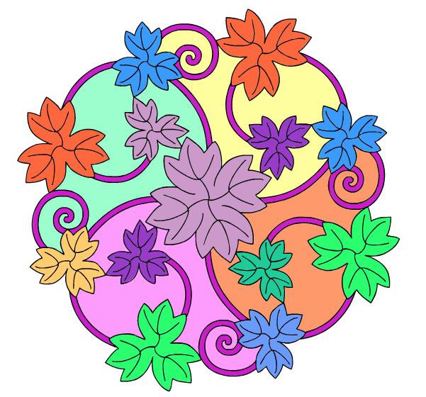 Mandala målarböcker för barn och vuxna