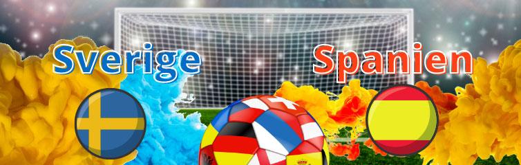 Sverige mot Spanien Fotbolls-EM