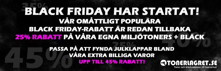 Black Friday har startat på Tonerlagret