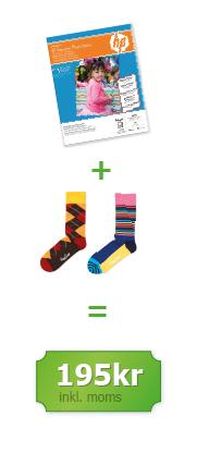 Fotopapper och strumpor från Happy Socks