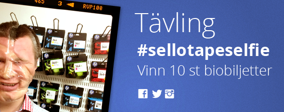Sellotapeselfie tävling mars 2014