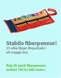 Stabilo fiberpennor 25-pack