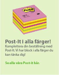 Post-it block i alla färger från Postit