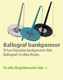 Ballografpennor - deskset klassiska bankpennor